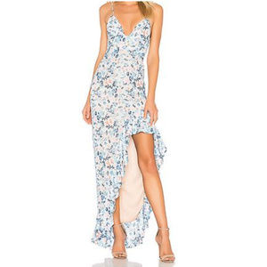 Lovers + Friends Floral Ruffle Hem Dress